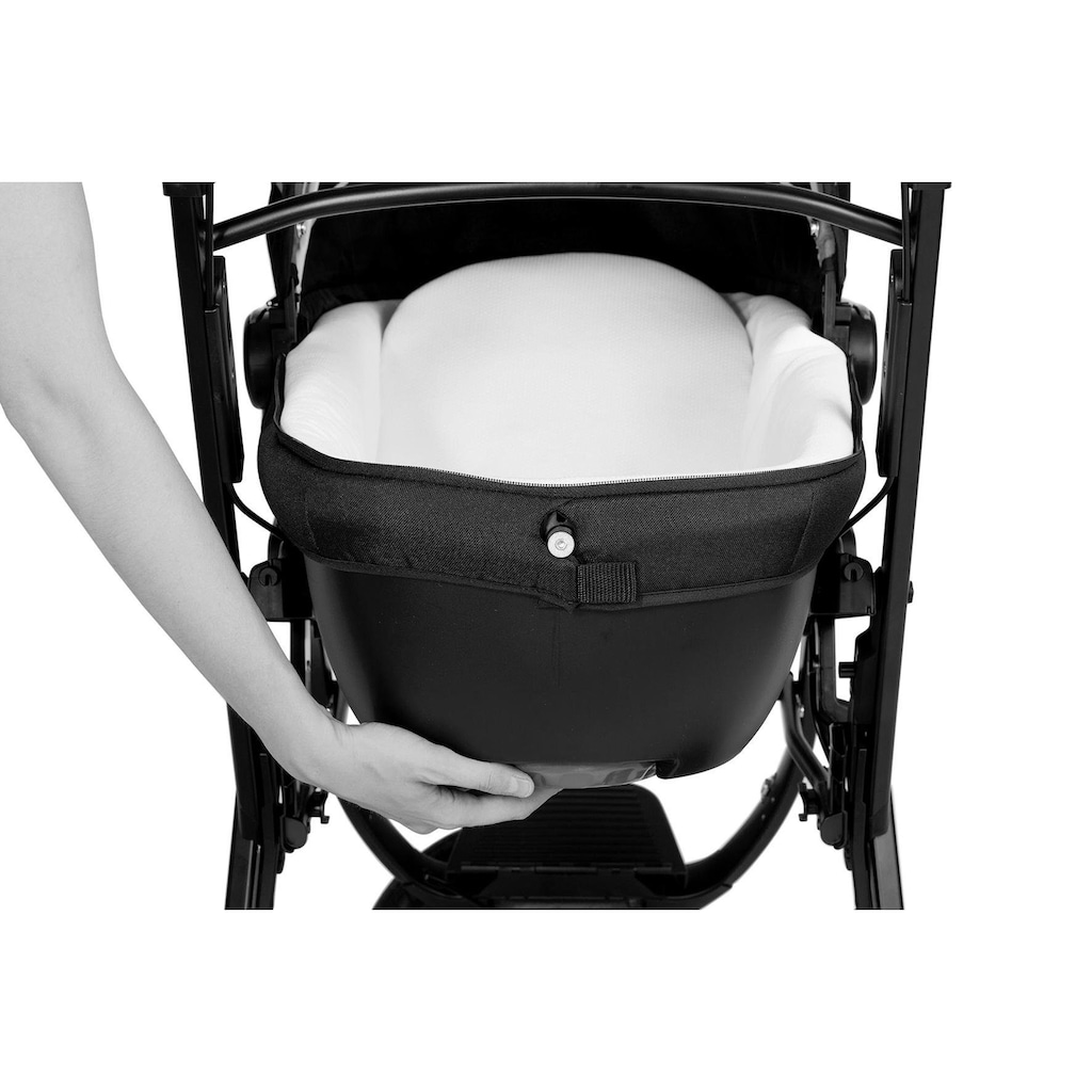 Chicco Kombi-Kinderwagen »Trio-System Activ3 Top, Dark Beige«, 15 kg, mit Regenschutz; Kinderwagen