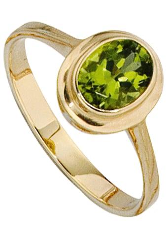 JOBO Goldring, 585 Gold mit Peridot kaufen