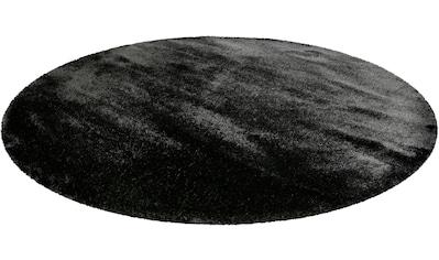 Wecon home Basics Hochflor-Teppich »Ella«, rund, 40 mm Höhe, Wohnzimmer kaufen