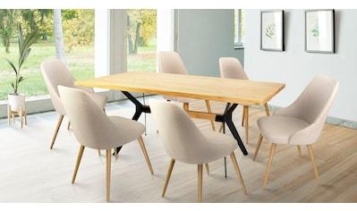 Home affaire Essgruppe »Mel/Luz«, (Set, 7 tlg.), bestehend aus Mell Esstisch 180 cm... kaufen