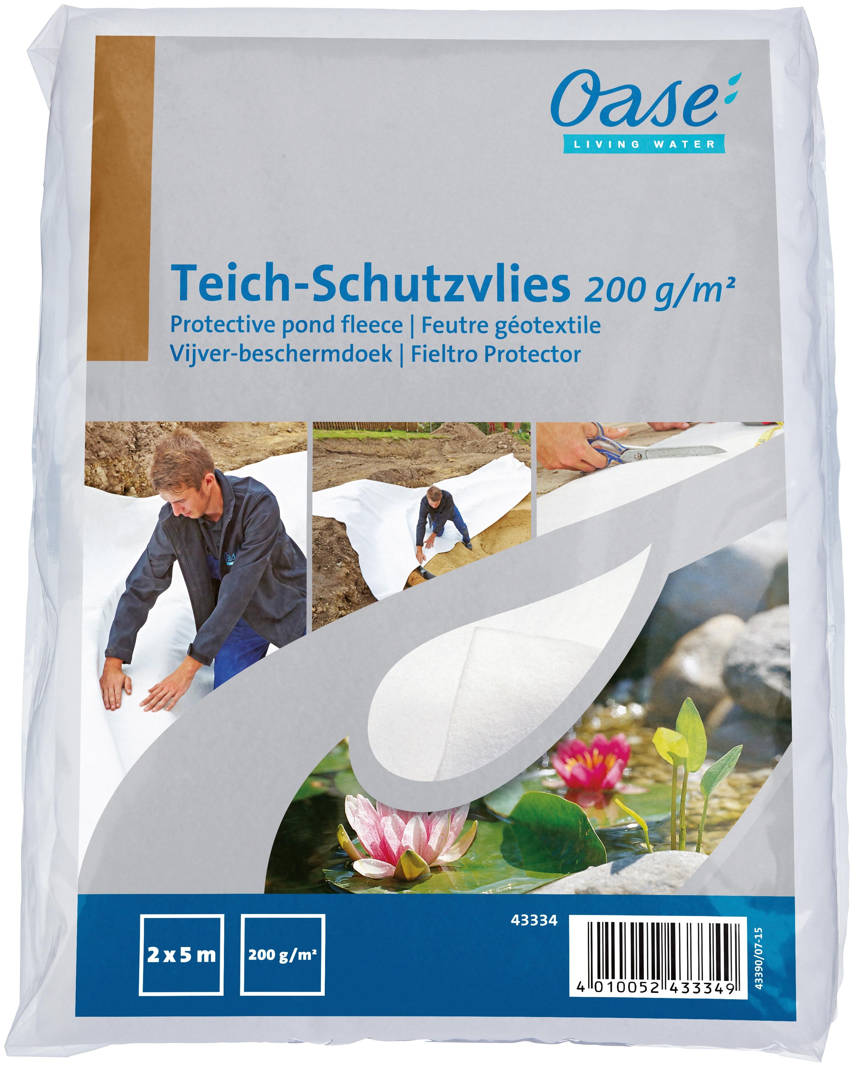 OASE Teichvlies, BxL: 200x500 cm weiß Teichzubehör Teiche Garten Balkon Teichvlies