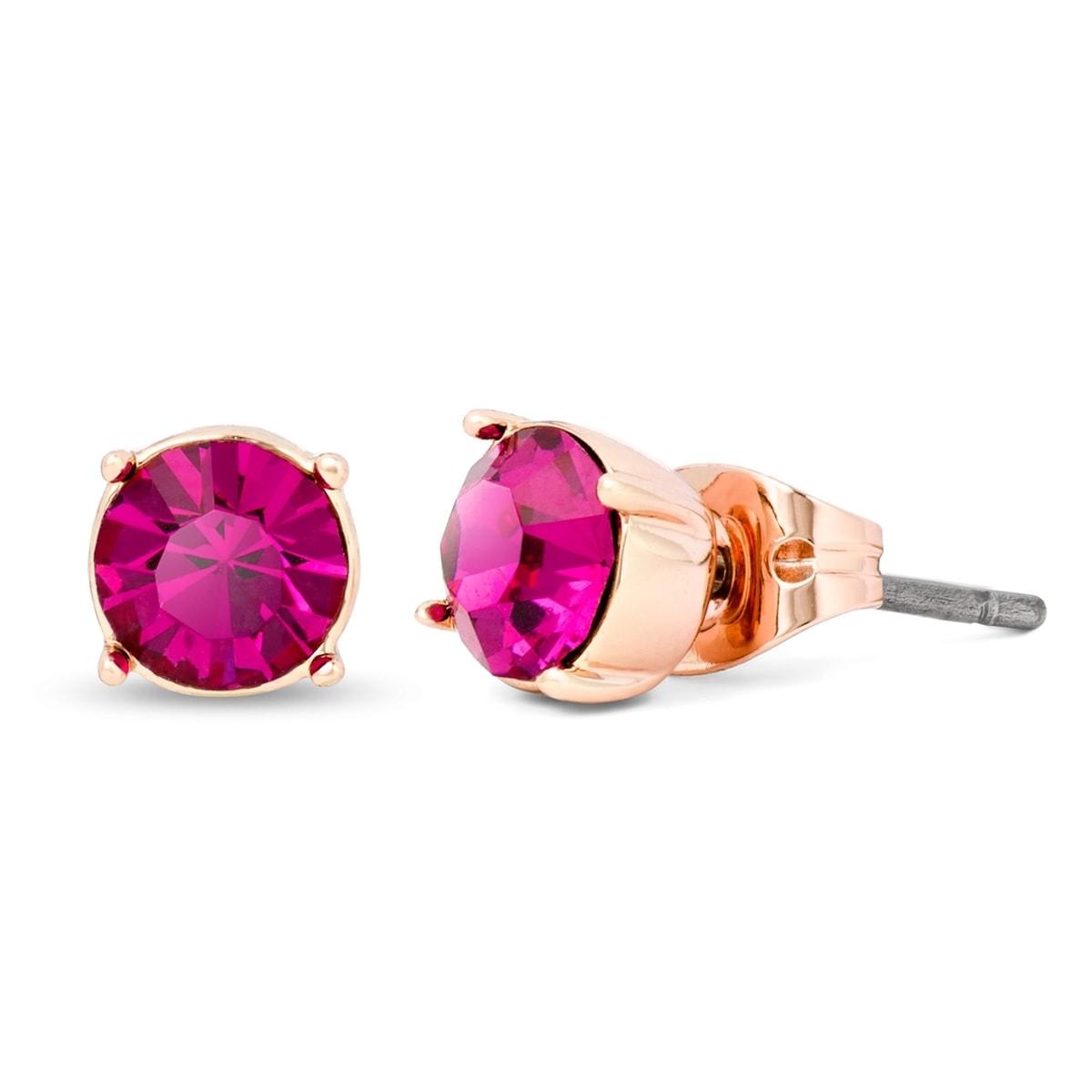 Pippa & Jean Paar Ohrstecker Set: PJ042, (2 tlg.), mit Glaskristallen rosa Damen Ohrringe Schmuck