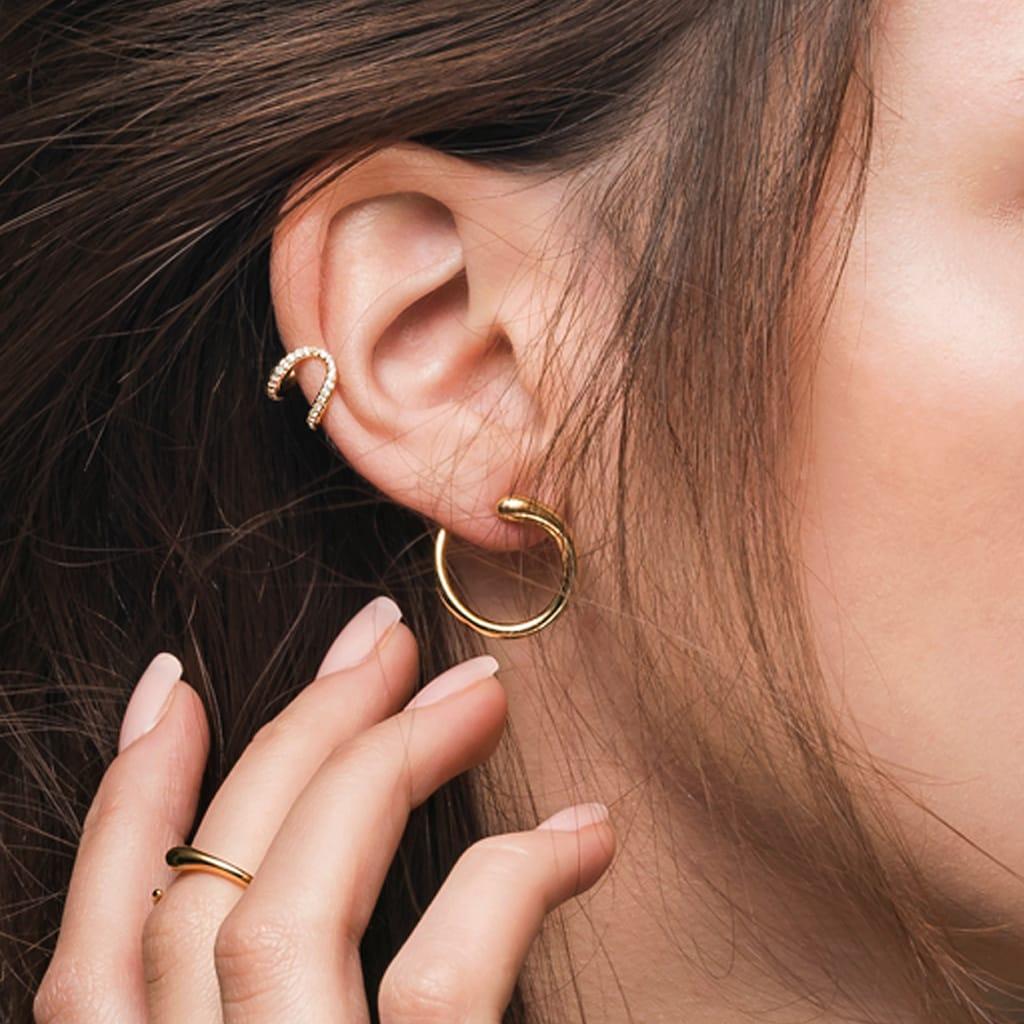 CAÏ Ohrklemme »925/-Sterling Silber rhodiniert Topas«, Ear Cuff