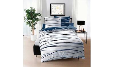BETTWARENSHOP Bettwäsche »Satinmotion marine«, zarter Seidenglanz mit zeitlosem Design kaufen
