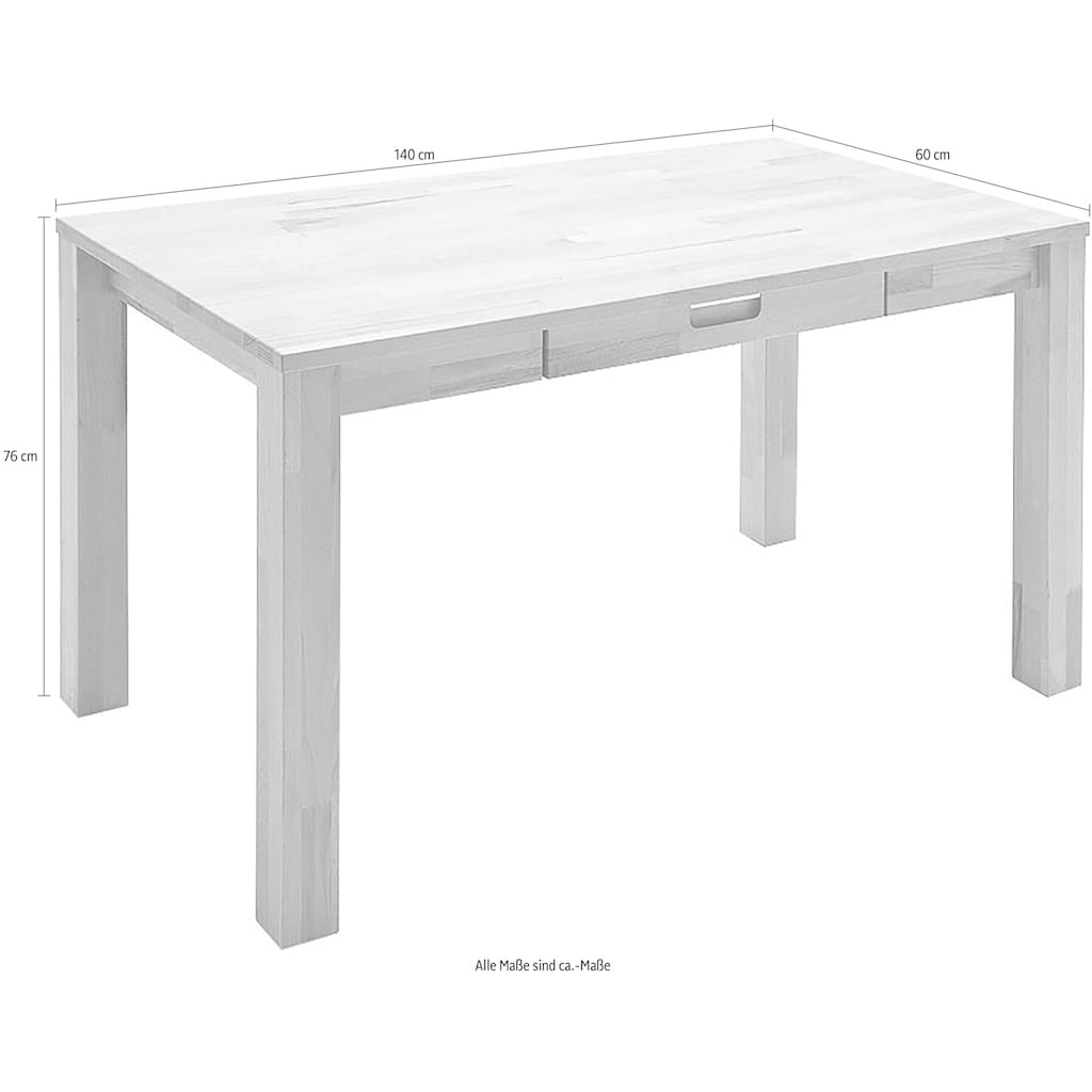 MCA furniture Schreibtisch »Cento 2«, Massivholz Kernbuche, Belastbar bis 40 Kg