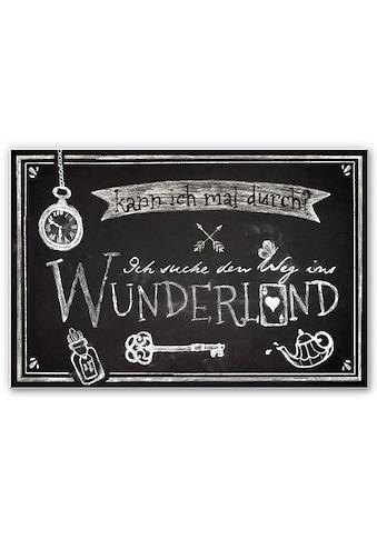 Home affaire Wandbild »Ich suche den Weg ins Wunderland« kaufen