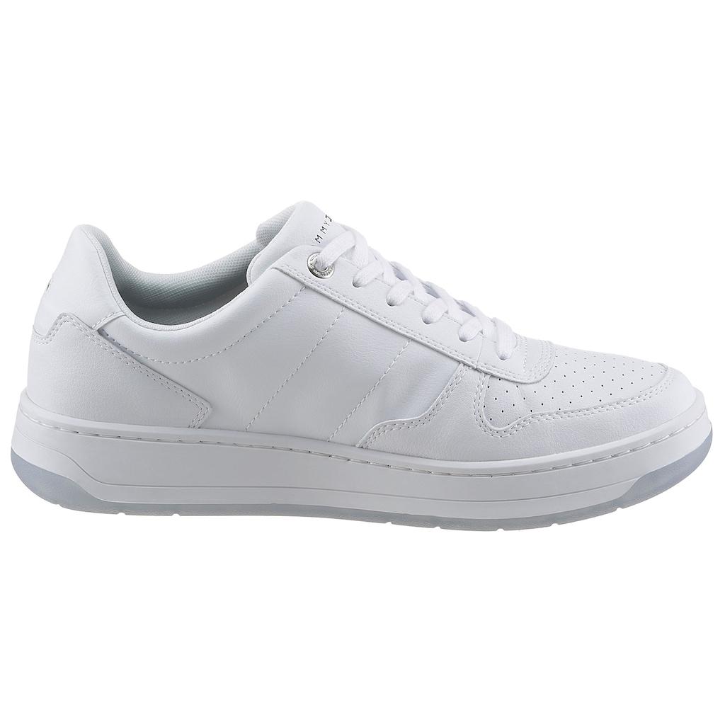 Tommy Hilfiger Sneaker »BASKET CUPSOLE SNEAKER LEATHER«, mit Perforierung