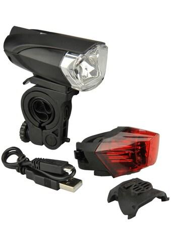 FISCHER Fahrräder Fahrradbeleuchtung »Batterie LED/USB-BeleuchtungsSet 35L« kaufen