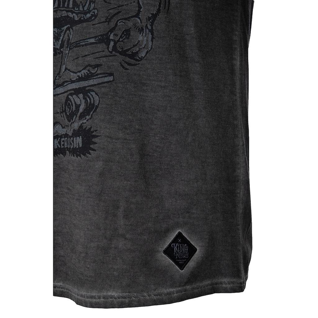 KingKerosin Print-Shirt »El Bastardo«, im Used Look
