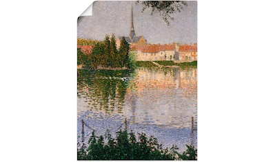 Artland Wandbild »Ansicht Les Andelys mit Insel Lucas.«, Europa, (1 St.), in vielen... kaufen
