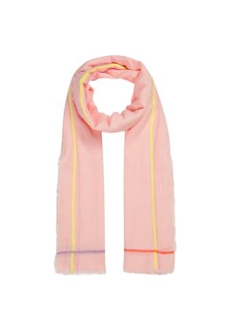 Codello XL - Schal aus leichter Sommerbaumwolle mit Neonstreifen kaufen