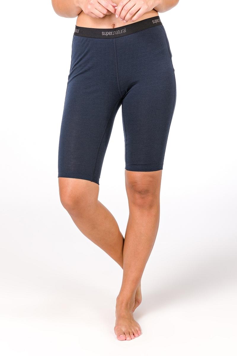 SUPER.NATURAL Funktionstights W BASE SHORT TIGHT 175, funktioneller Merino-Materialmix blau Damen Kurze Hosen