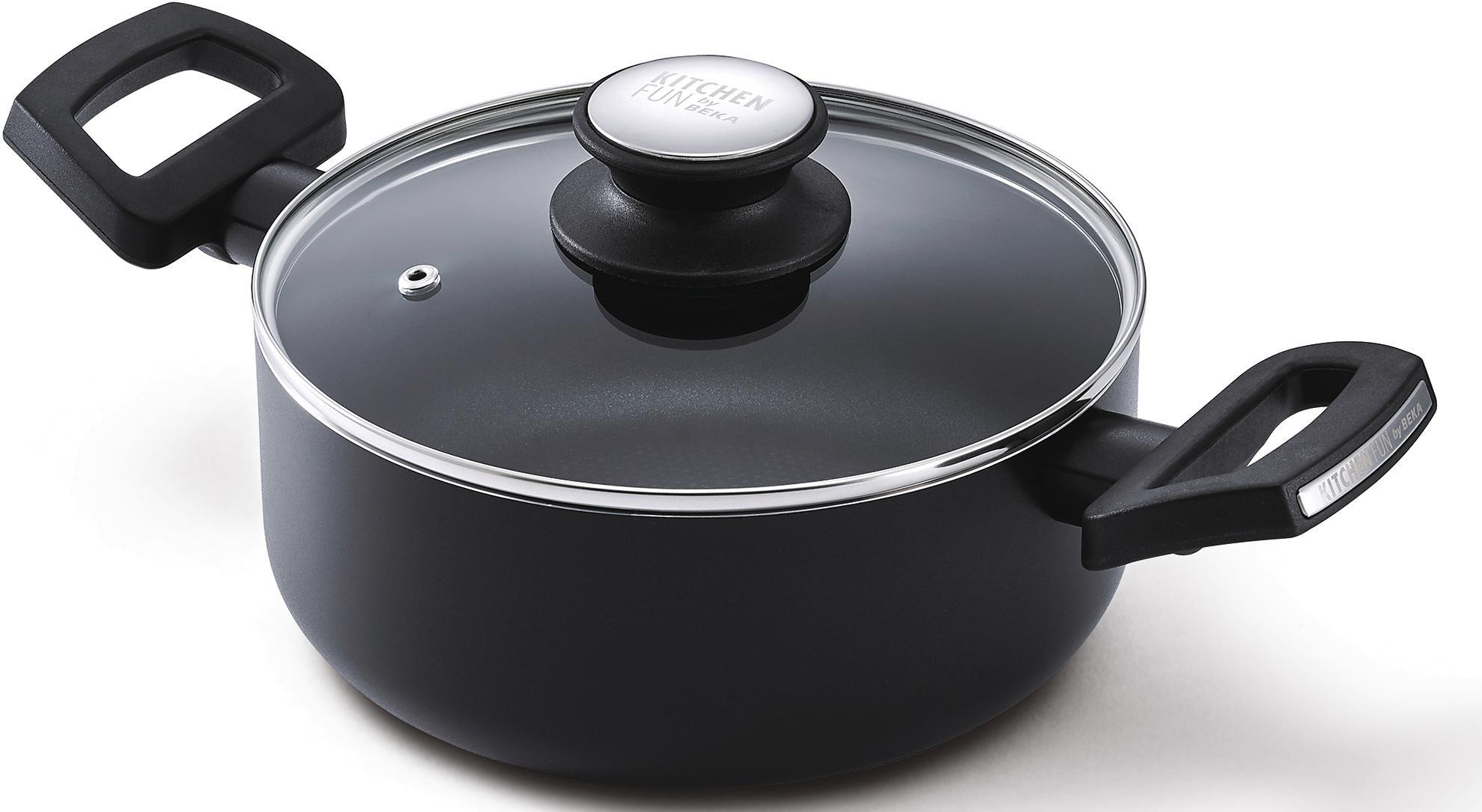 Beka Kochtopf Salsa, Aluminium, (1 tlg.), Induktion schwarz Gemüsetöpfe Töpfe Haushaltswaren