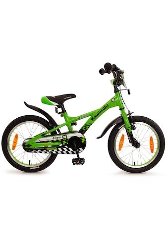 """Bachtenkirch Mountainbike »16"""" Kinderfahrrad """"KAWASAKI  -  Ninja"""", grün/schwarz«, 1 Gang kaufen"""