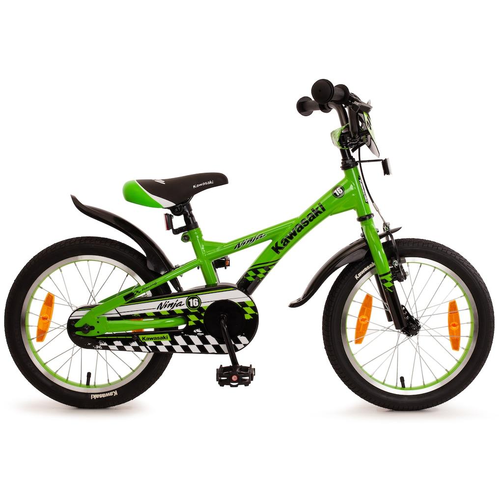 "Bachtenkirch Mountainbike »16"" Kinderfahrrad ""KAWASAKI - Ninja"", grün/schwarz«"