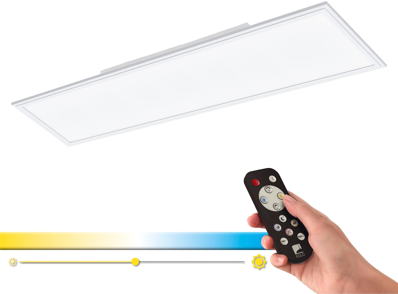 EGLO Deckenleuchte SALOBRENA-A, LED-Board, Extra-Warmweiß-Kaltweiß-Neutralweiß-Tageslichtweiß-Warmweiß, Steuerung über Fernbedienung, Nachtlicht