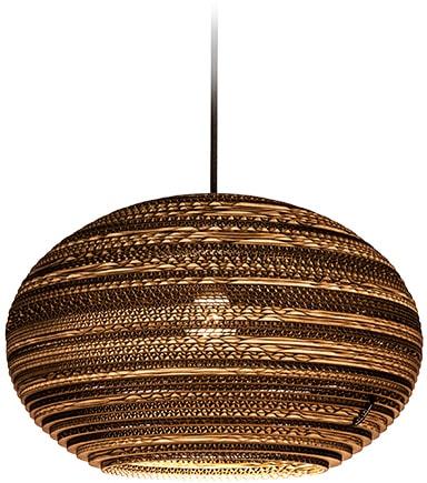 think paper Hängeleuchte Lazy 290, E27, 1 St., Style Papierleuchte, Designer Deckenlampe, umweltfreundliche LED Lampe, LED Deckenleuchte aus Papier, Hängeleuchte einzigartig