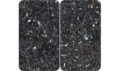 WENKO Herd-Abdeckplatte »Blauer Marmor«, (Set, 2 tlg.), für alle Herdarten kaufen