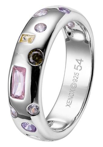 XENOX Silberring »MYSTERY, XS1988/52, XS1988/54, XS1988/56, XS1988/58«, mit Zirkonia kaufen
