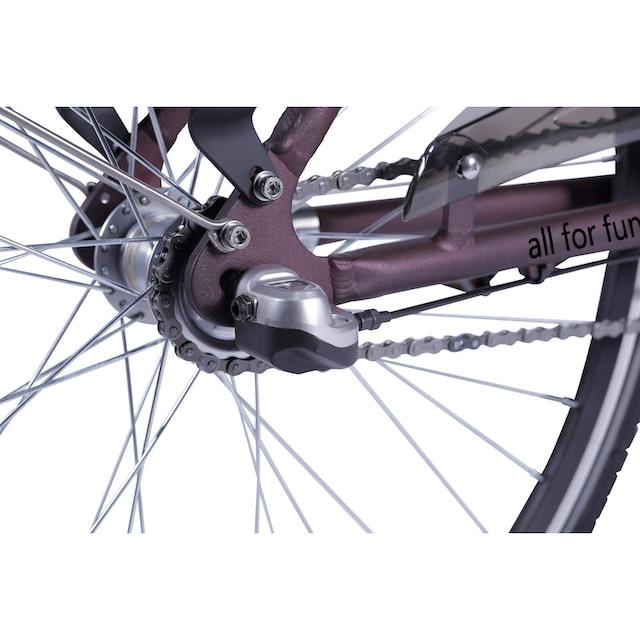LLobe E-Bike »Metropolitan JOY rot 10 Ah«, 3 Gang Nabenschaltung, Frontmotor 250 W
