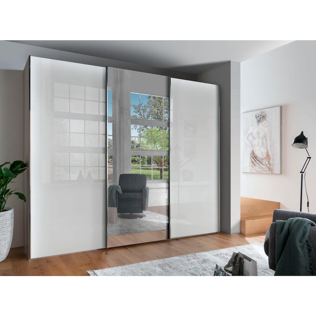 WIEMANN Schwebetürenschrank »Monaco«, hochwertige Glas- und Spiegelfront