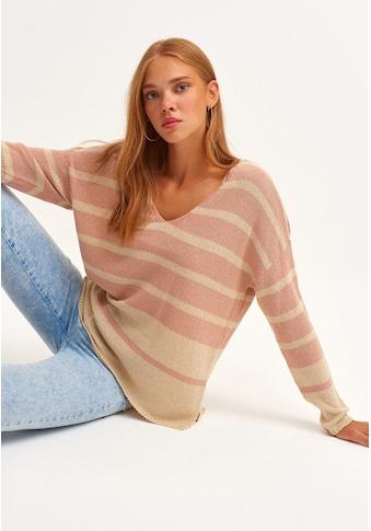 OXXO V-Ausschnitt-Pullover, mit modischen Streifen kaufen