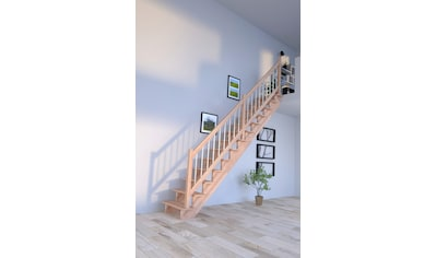 Starwood Systemtreppe »Lindos«, B: 100 cm, gerade Ausführung, Geländer rechts kaufen