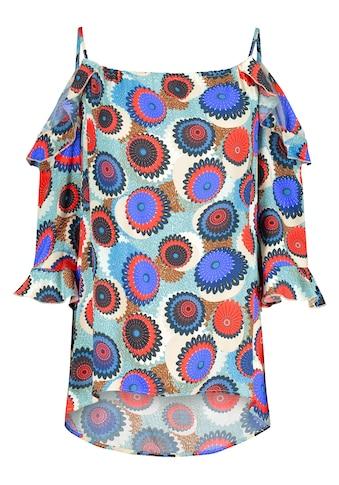 Nicowa Sommerliche Bluse NEDERO mit Allover-Muster kaufen
