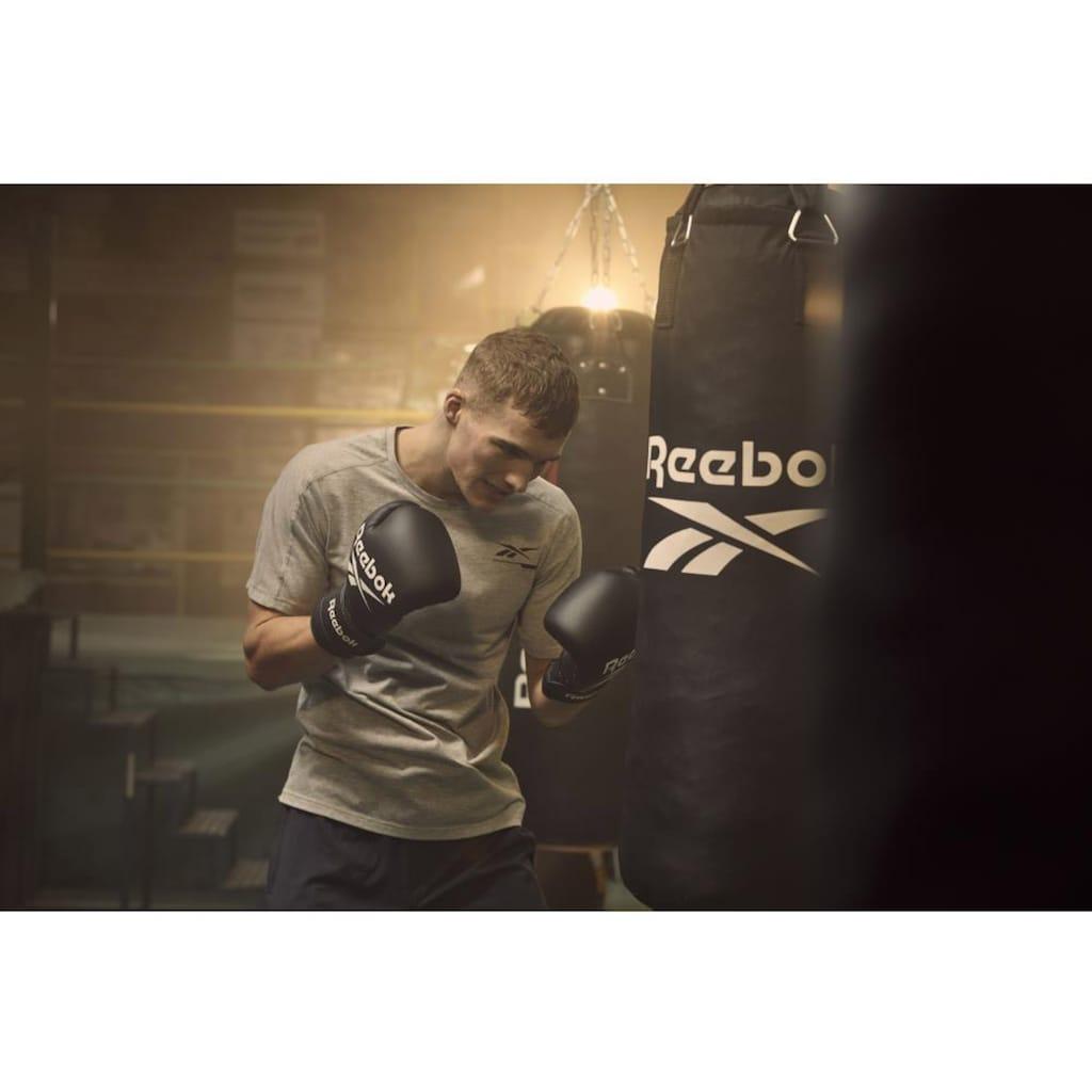 Reebok Boxsack »Combat Boxsack mit 12 Oz Boxhandschuhen«, (Set, 3 tlg., mit Boxhandschuhen)