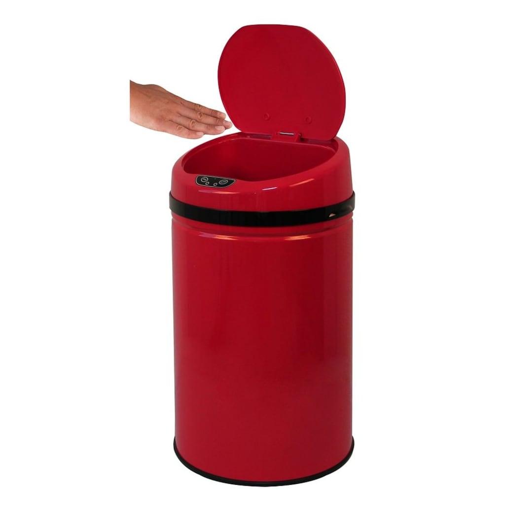 ECHTWERK Mülleimer »INOX RED«, Infrarot-Sensor, Fassungsvermögen 30 Liter