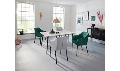 INOSIGN Esstisch »Tegan«, mit einem Metallgestell, in verschiedenen Tischgrößen, mit einer Hochglanz Oberfläche kaufen