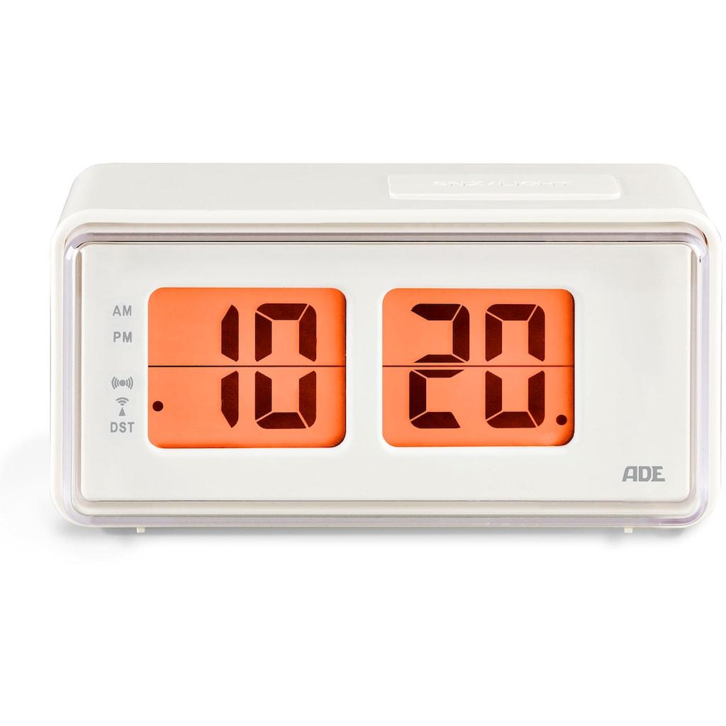 ADE Funkwecker »CK 1720«, Wecker mit LCD-Display im Retro Klappzahlen-Design