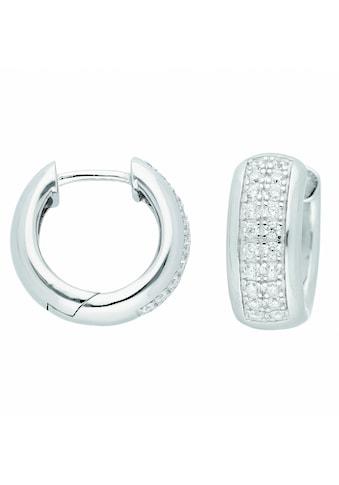 Adelia´s Paar Ohrhänger »925 Silber Ohrringe / Creolen mit Zirkonia Ø 17,3 mm«, 925... kaufen