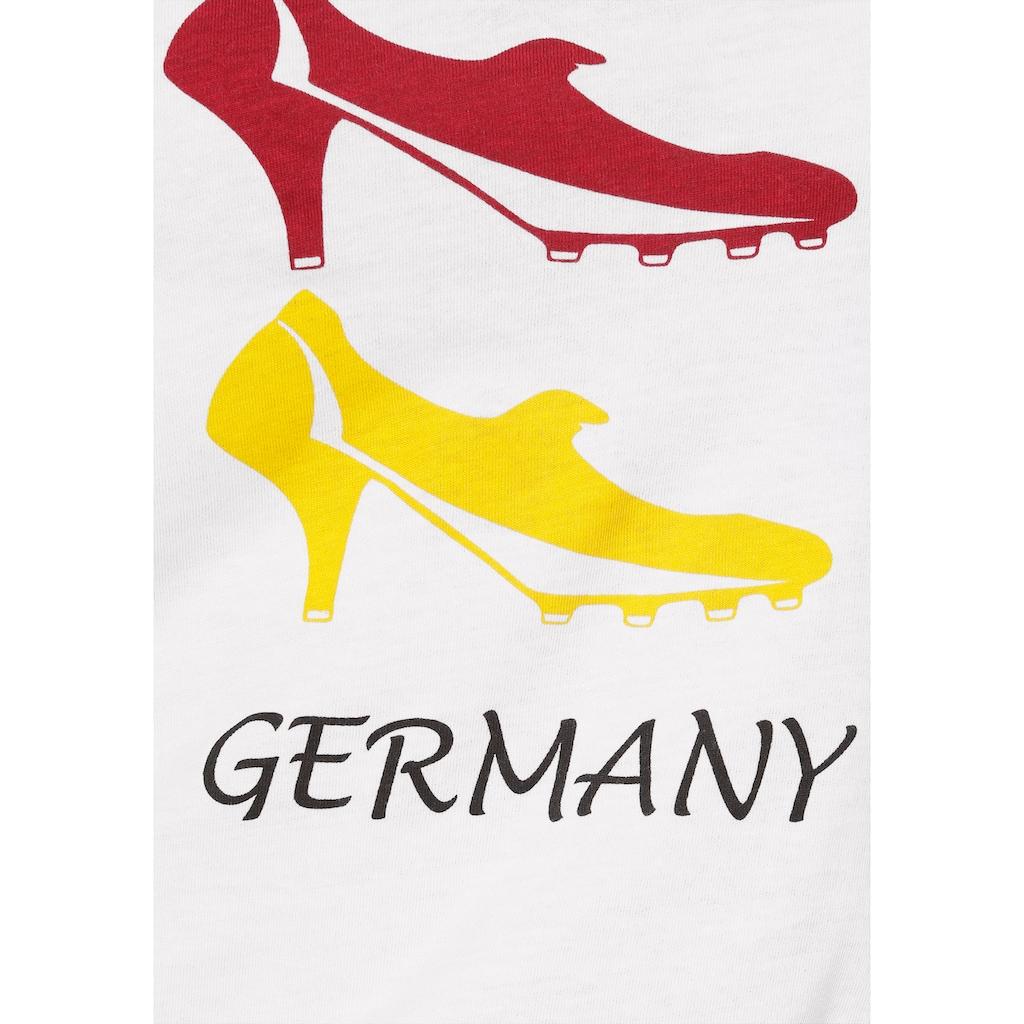 STOOKER WOMEN Rundhalsshirt »Cara«, Deutschland-Fanshirt für die EM 2021