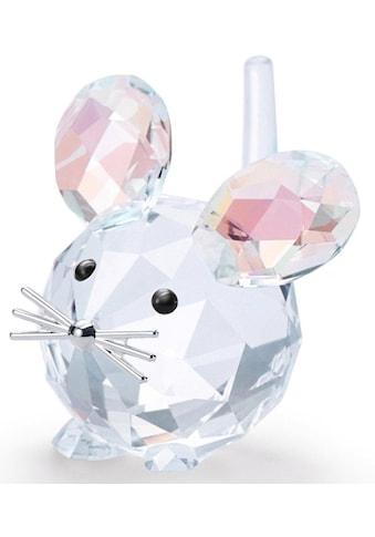 Swarovski Dekofigur »Replika Maus, 5492738«, Swarovski® Kristall mit schwarzem Emaille kaufen