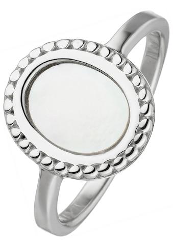 JOBO Fingerring, 925 Silber mit Perlmutt-Einlage oval kaufen