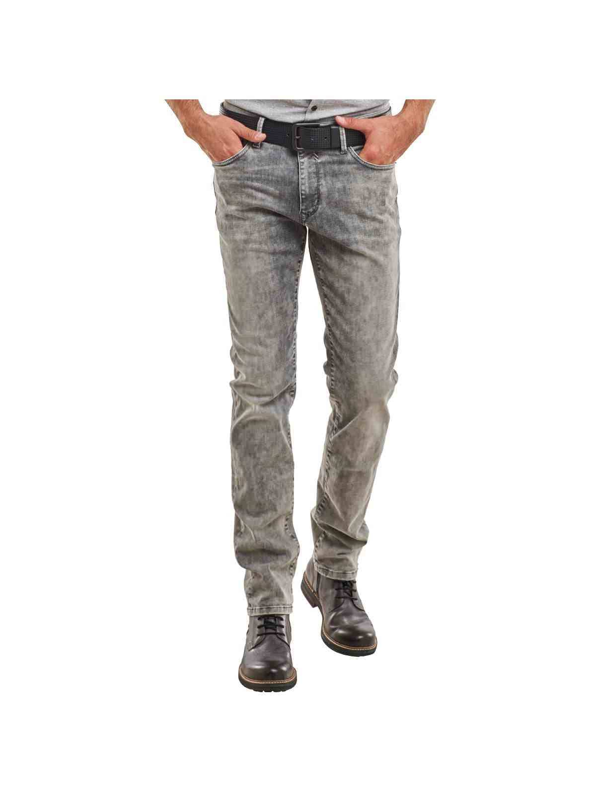engbers Jeans im Moonwash-Look | Bekleidung > Jeans > Sonstige Jeans | Grau | Denim - Elastan | ENGBERS