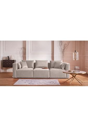 Guido Maria Kretschmer Home&Living 3-Sitzer »Marble«, zusammengesetzt aus Modulen, in 3 Bezugsqualitäten und vielen Farben möglich kaufen