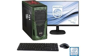 Hyrican »Military Gaming 6481 + Philips 273V7Q« PC - Komplettsystem (Intel, Core i5, GeForce) kaufen