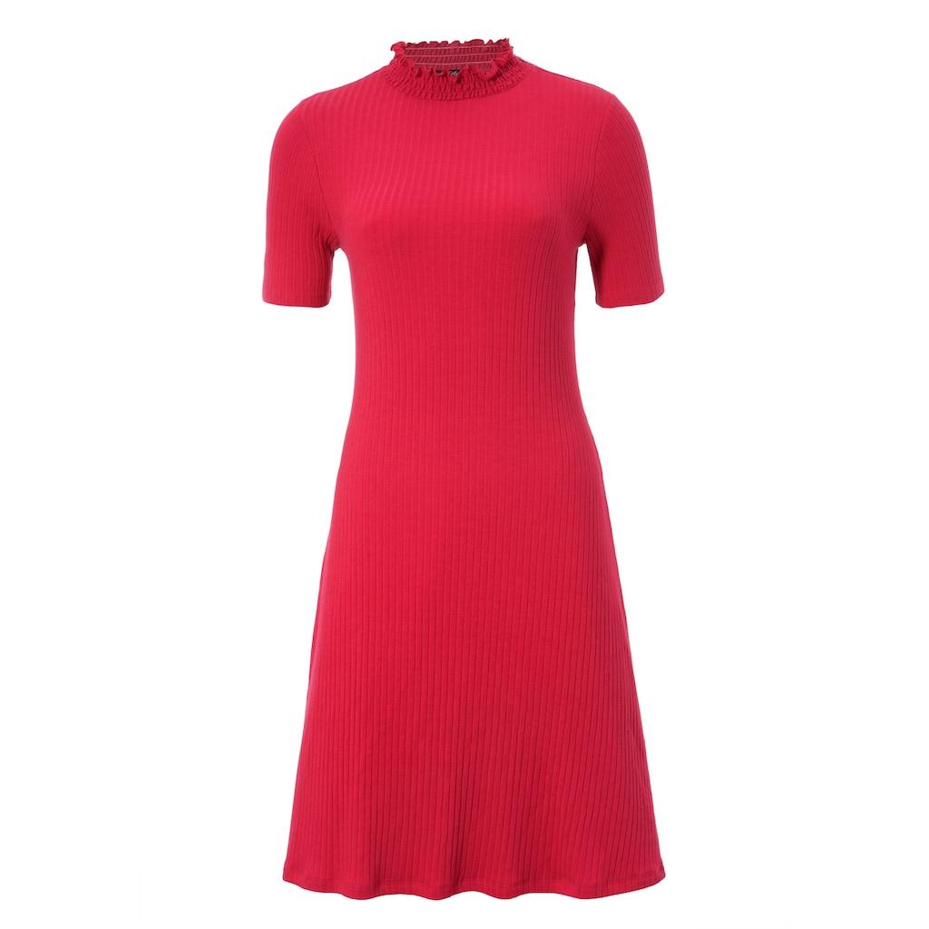 Aniston CASUAL Sommerkleid, mit Smok am Stehkragen