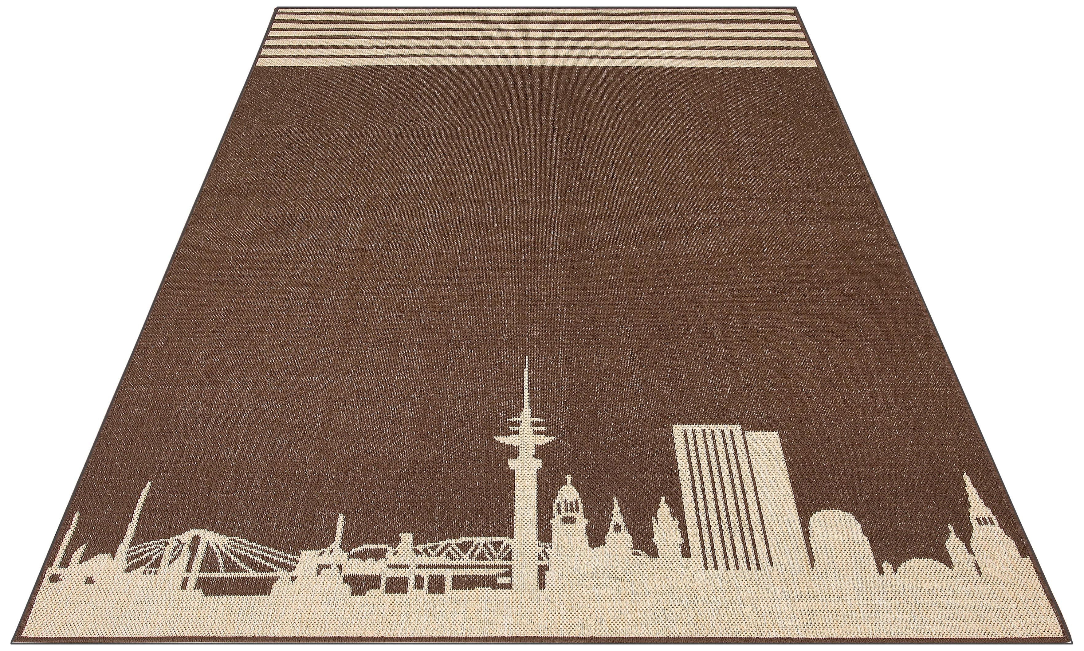Teppich Hamburg my home rechteckig Höhe 2 mm maschinell gewebt