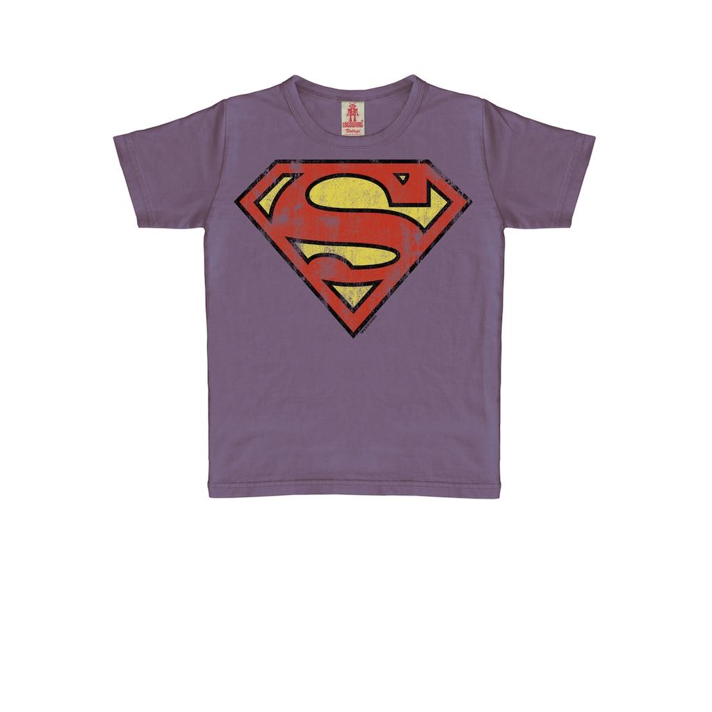 LOGOSHIRT T-Shirt »Superman«, mit heldenhaftem Vintage-Print