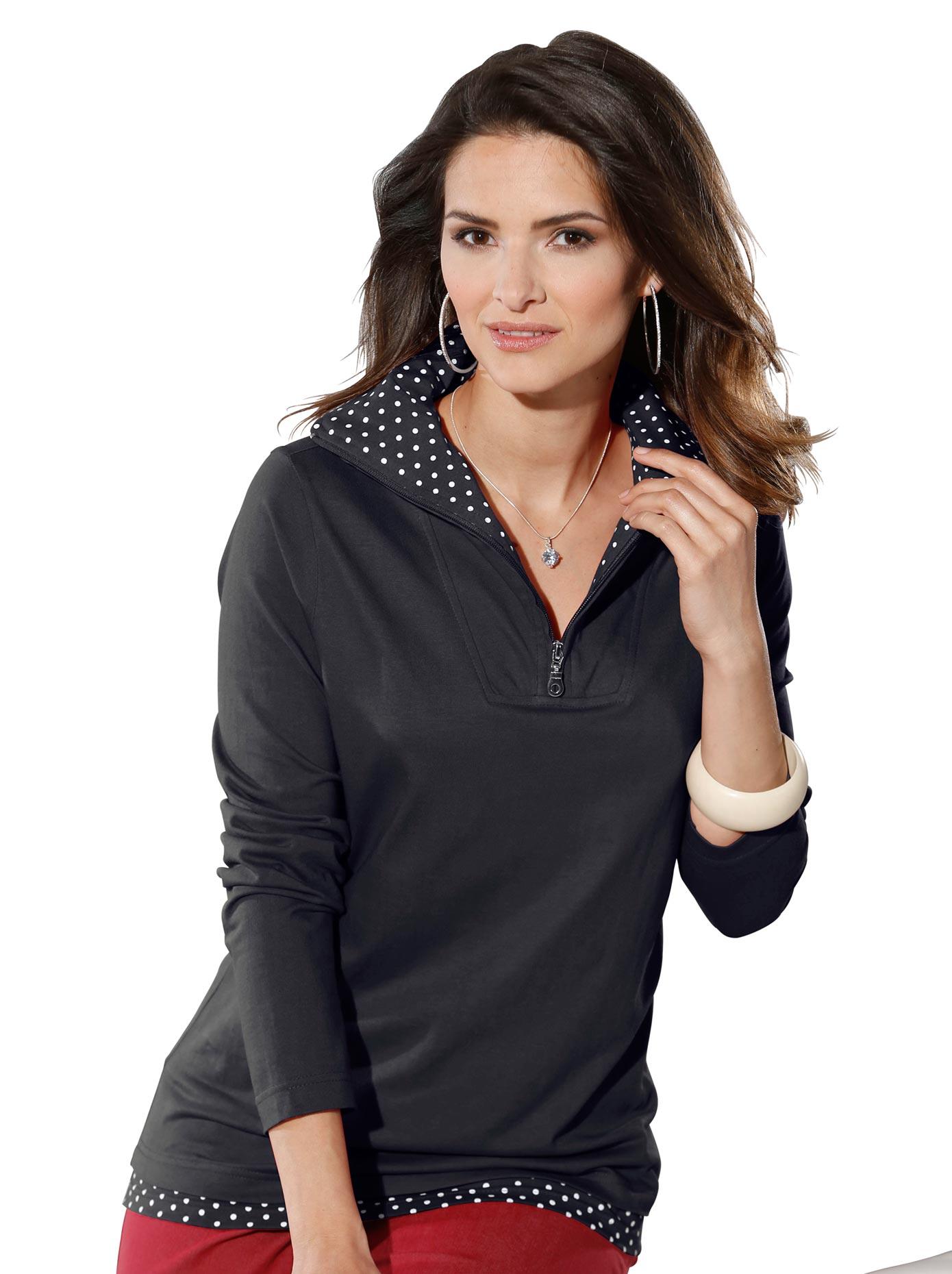 Classic Basics 2-in-1-Shirt mit Tupfendessin | Bekleidung > Shirts > 2-in-1 Shirts | Classic Basics