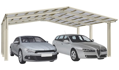Ximax Doppelcarport »Linea Typ 110 M-Edelstahl-Look«, Aluminium, 530 cm,... kaufen