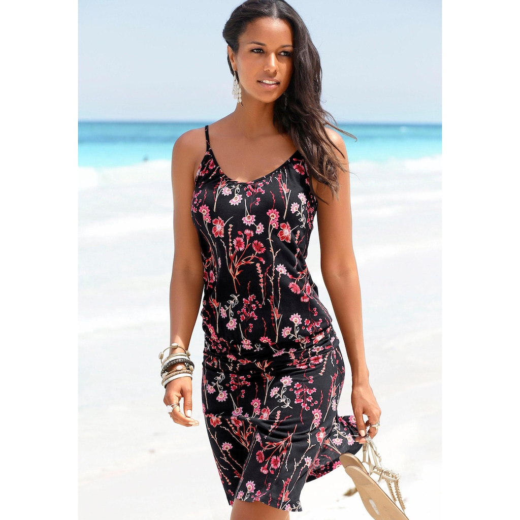 LASCANA Strandkleid, mit Blumenprint