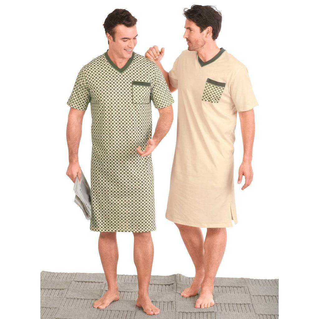 Kings Club Nachthemd »Kurzarm-Nachthemden«