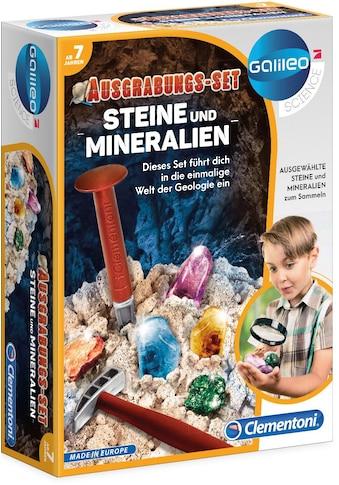 Clementoni® Experimentierkasten »Galileo, Ausgrabungs-Set - Steine und Mineralien«, Made in Europe kaufen
