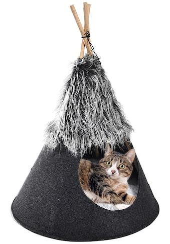 HEIM Katzenzelt »Heimtier-Tipi Love«, Katzenhöhle, BxTxH: 50x50x70 cm kaufen