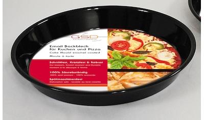 GSD HAUSHALTSGERÄTE Backblech, Emaille, für Kuchen und Pizza kaufen
