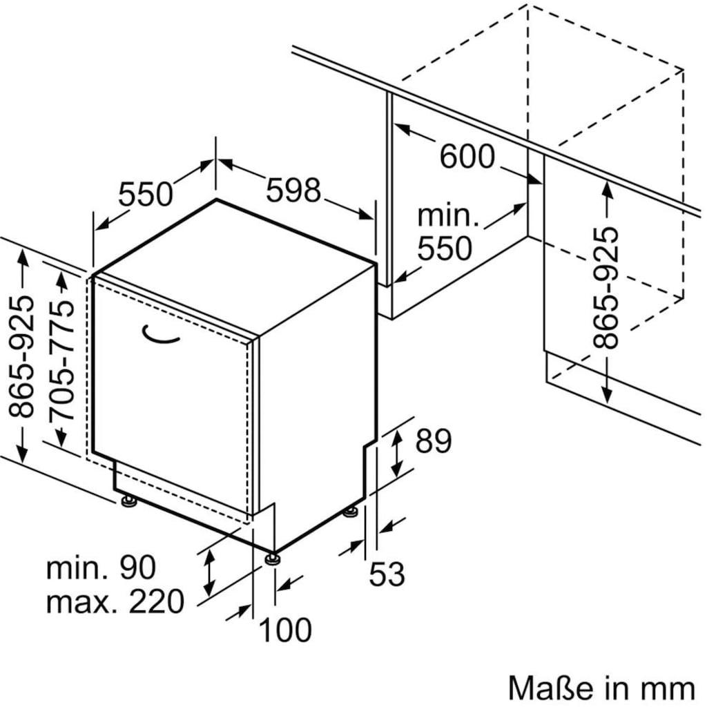 NEFF vollintegrierbarer Geschirrspüler »S255ITX04E«, S255ITX04E, 12 Maßgedecke